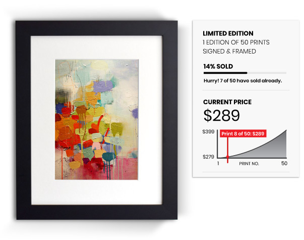 Sell the original artwork or limited edition print runs.