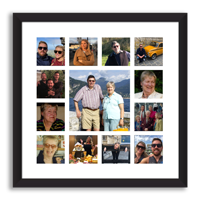 Upload your pictures and create a Montage Framed Print